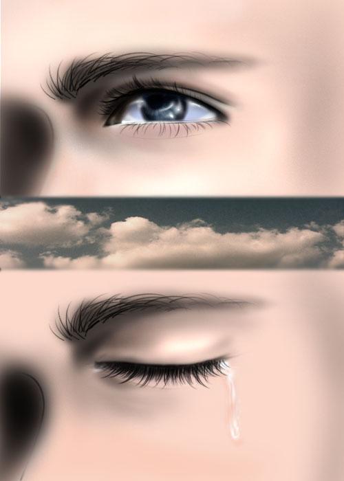 photoshop鼠眼睛流泪的效果图