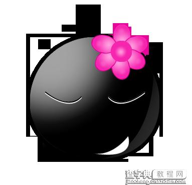 ps入门实例教程>> photoshop打造可爱mm头像   2,看看眼睛,用钢笔画的图片